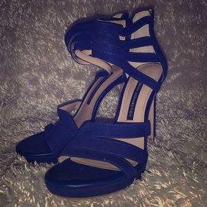Size 7 French Connection Cobalt Blue Heels